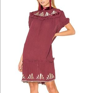 Somedays Lovin Florentine Embroidered Mini Dress M